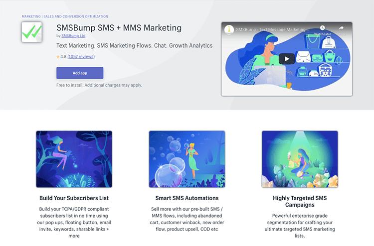SMSBump SMS + MMS Marketing app
