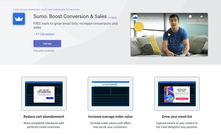 Sumo boost conversion app