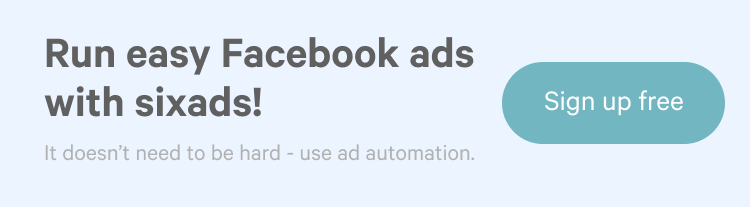Run easy Facebook ads with sixads