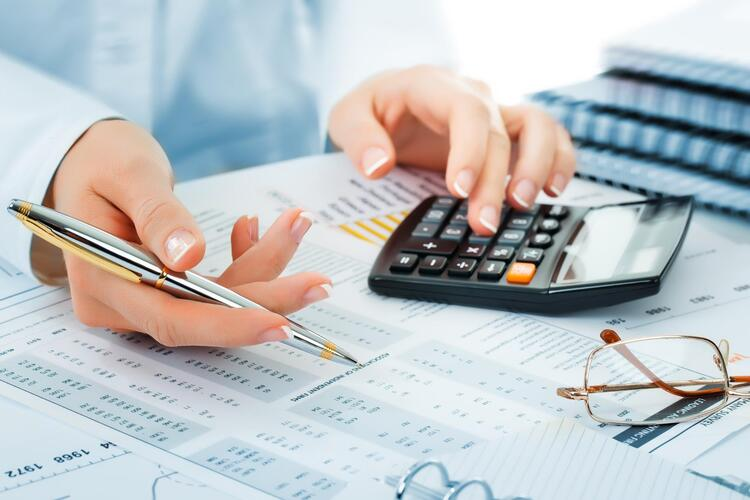 an accountant calculating