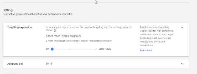google ads automatic settings