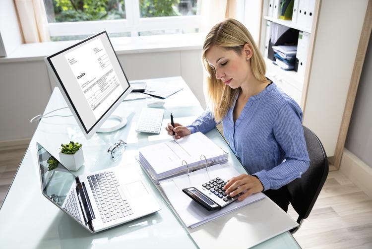accountant on desk