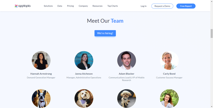 app topia about us page