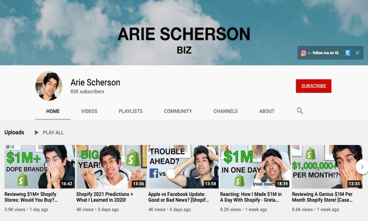 arie scherson youtube channel image