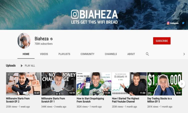 biaheza youtube channel image