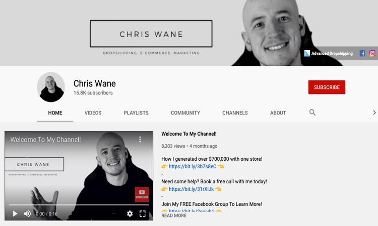 chris wane youtube channel image