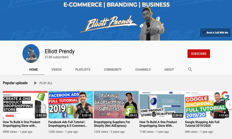 elliot prendy youtube channel image