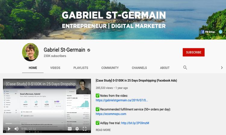 gabriel st germain youtube channel image