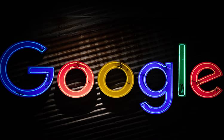 google logo neon light
