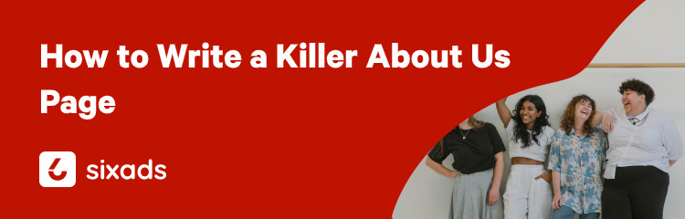 killer about us page blog post