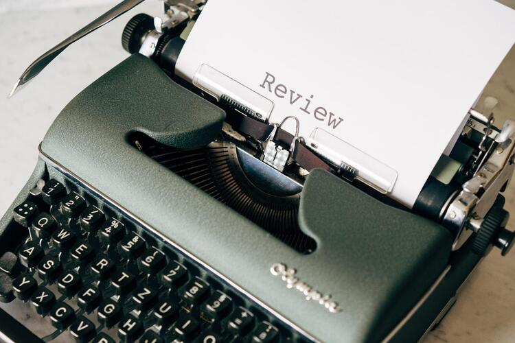 word review on a typewriter