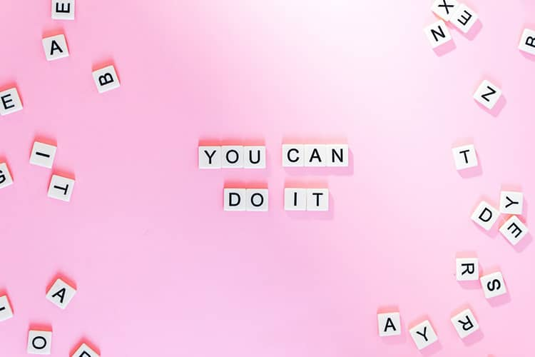 you can do it pink letters