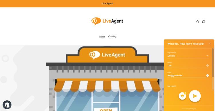 Live chat app LiveAgent