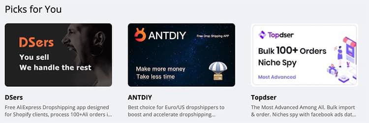 aliexpress dropshipping center apps list