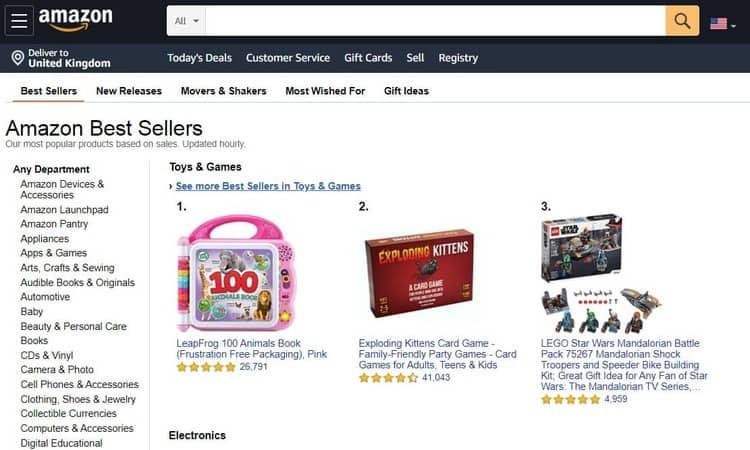 amazon best sellers items