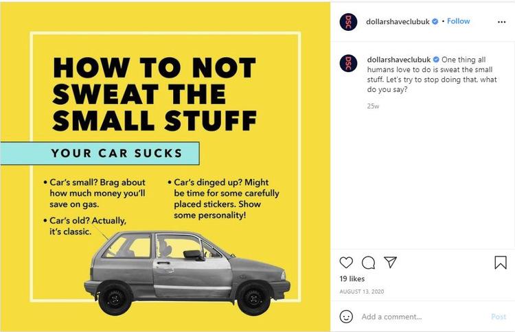 humor car dollarshaveclub