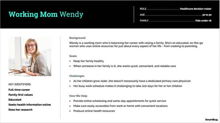 buyer persona working mom example