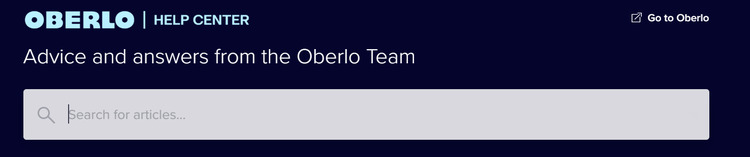 oberlo help search