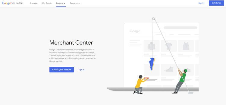 google merchant center step 1