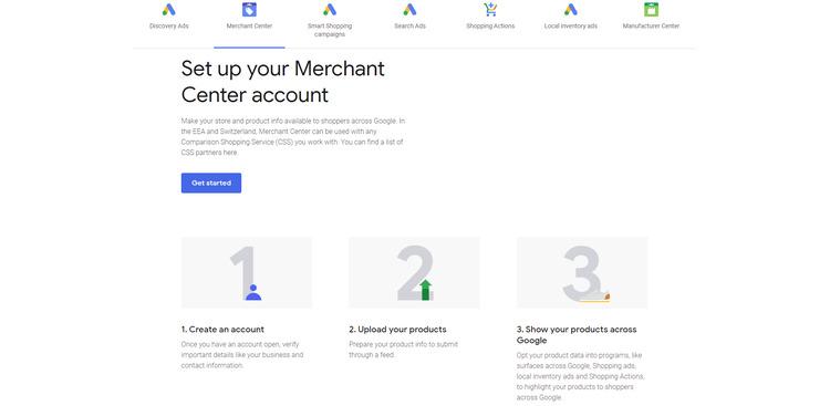 google merchant center step 2