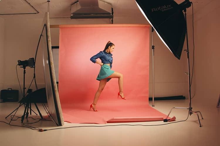 woman on photoshoot