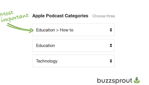 apple podcast vategories