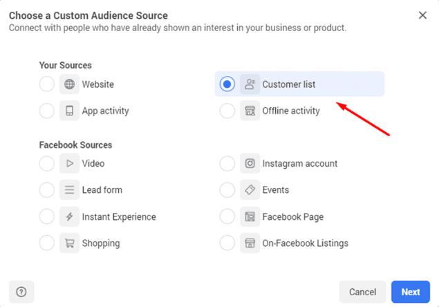 custom audience source