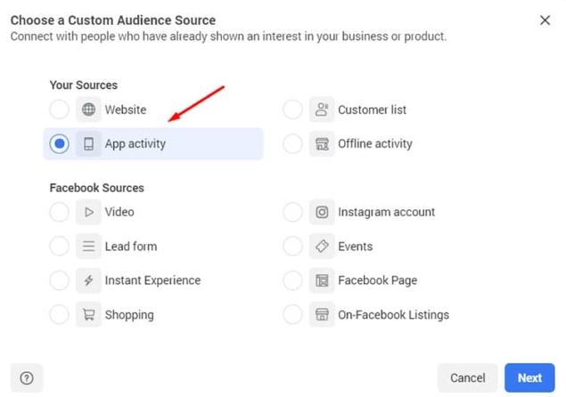 choose app activity