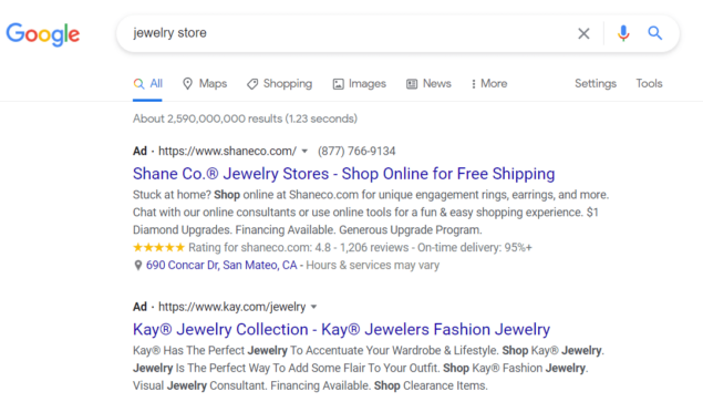 google jwelry store