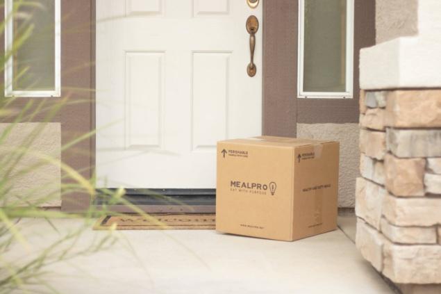 cardbox delivered at the door