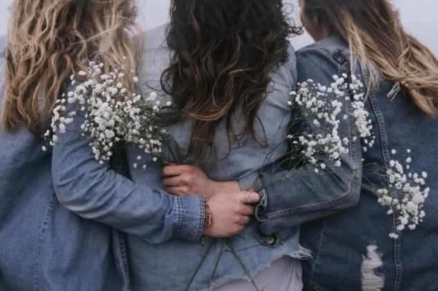 girls in jean jackets