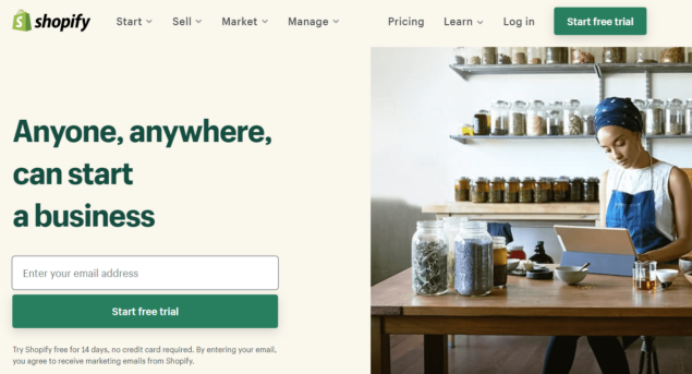 create a store with shopify